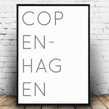 Plakat København hvid