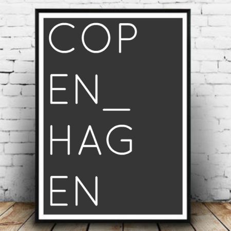 Plakat København mørk