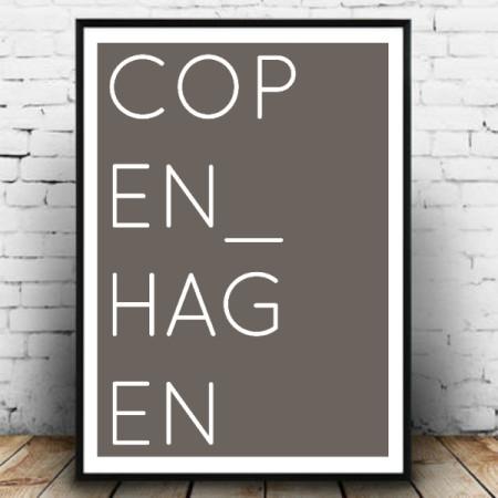Plakat København grå