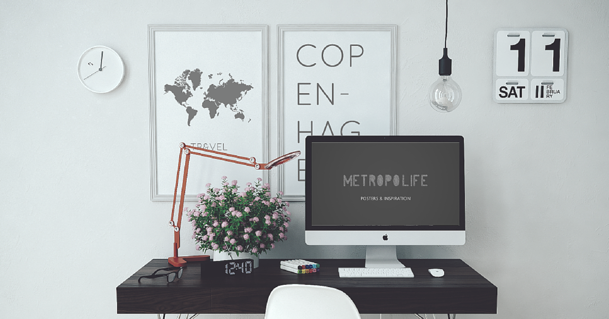 Minimalistic poster inspiration by metropolife