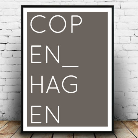 COPENHAGEN GREY Copenhagen light Designed in by MetropolifeScandinavian Design Poster