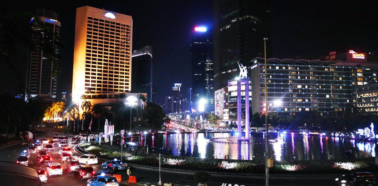 Square around Selamat Datang Monument, Jakarta