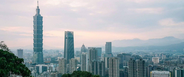 Taipei, Taiwan, Elephant Mountain, Taipei Skyline